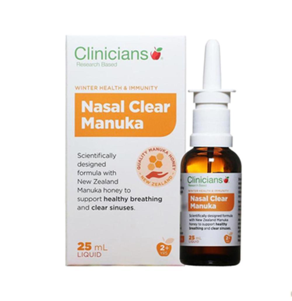 新西兰Clinicians科立纯麦卢卡蜂蜜鼻子喷雾剂塞痒