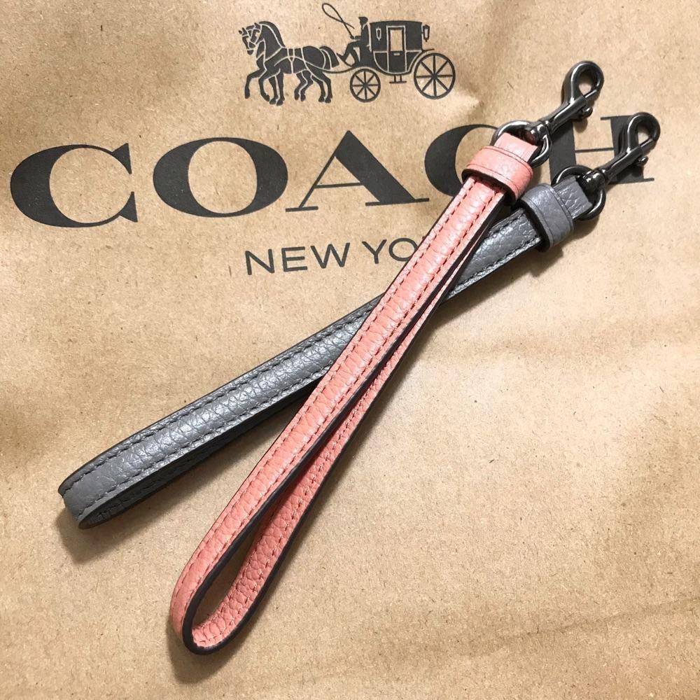 特价福利 Coach女士全牛皮软牛皮女包手包通用手绳 手带 手腕带